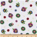 Imperial Paisley Tossed Flower White