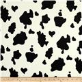 Animal Print Soft Fur Cow Black/White