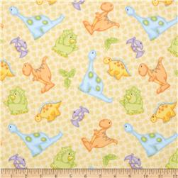 The Land Before Time Flannel Dino All Over Beige
