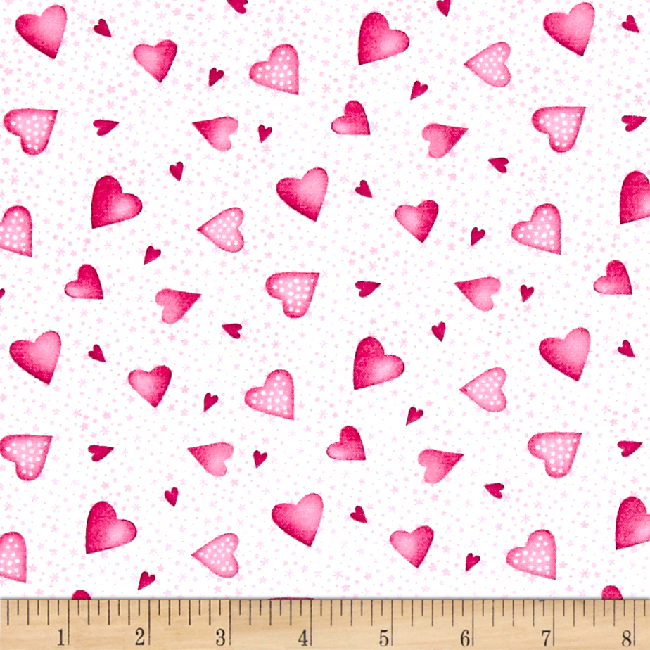 A Bundle of Pink Hearts Pink Fabric by Red Rooster in USA