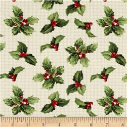 Crimson & Holly Holly Toss Ivory