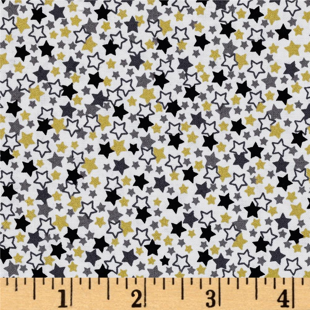 Stars Metallic White Multi