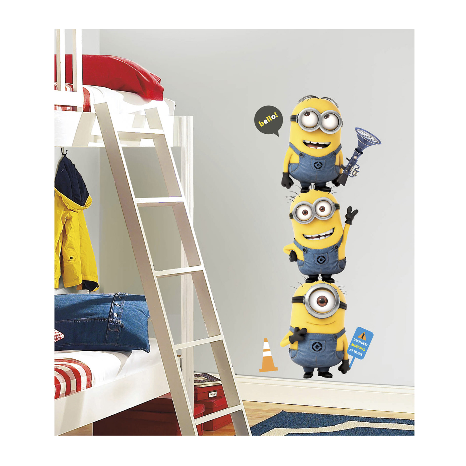 Image of Despicable Me 2 Minions Giant Wall Decal