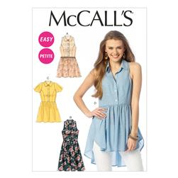 McCall's Misses'/Miss Petite Tops, Tunic and Dresses Pattern