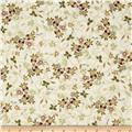 Valencia Metallic Floral Cream