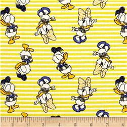 Disney Mickey Mouse & Friends Daisy & Donald Stripes Sunshine