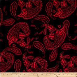 Alanna Resort Stretch ITY Paisley Prints Black/Red