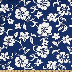 Hoffman Tropical Collection Hibiscus White/Royal
