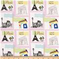 Riley Blake Pepe in Paris Stamp Pink
