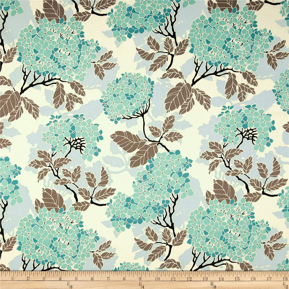Joel Dewberry Birch Farm Home Decor Sateen Hydrangea EggBlue