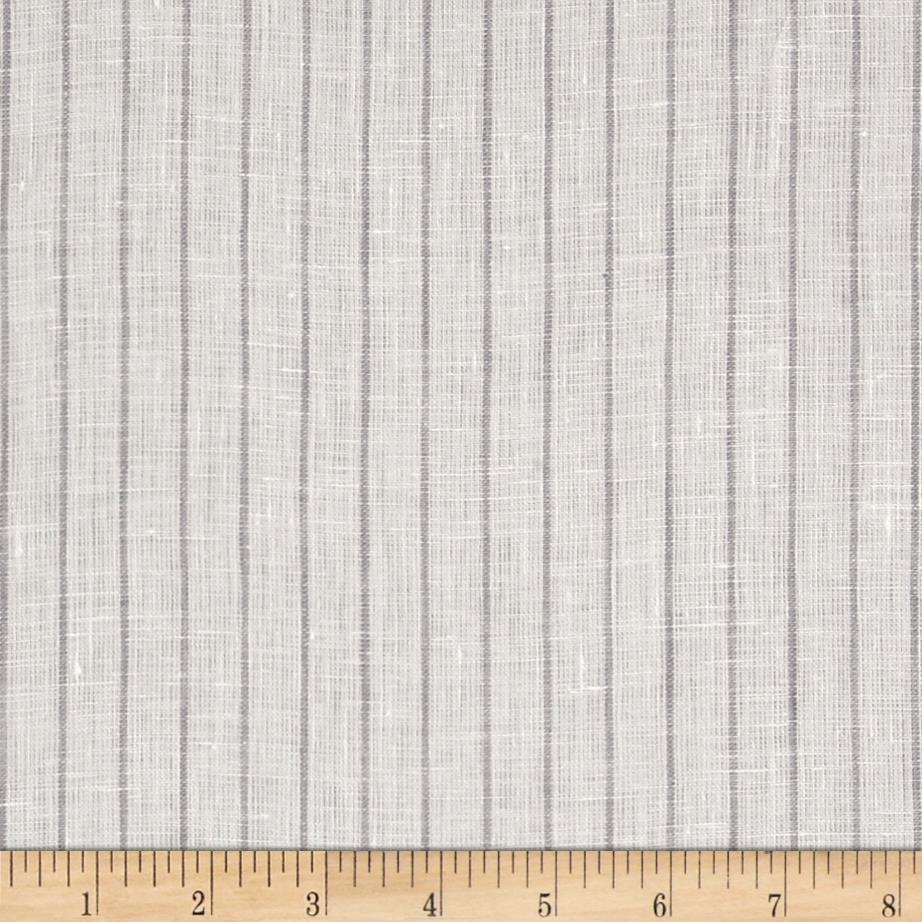 Telio Tuscany Pinstripe Chambray Linen Light Grey/Beige