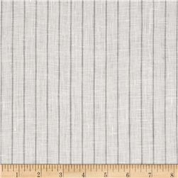Tuscany Pinstripe Chambray Linen Light Grey/Beige
