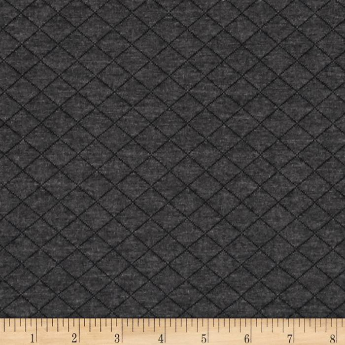 Cozy Quilt Knit Dark Grey