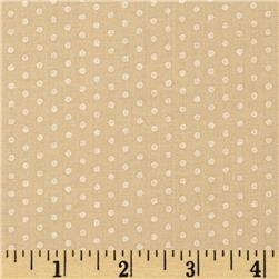 Kaufman Spot On Pearl Metallic Small Dot Natural