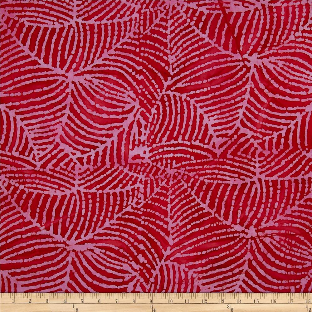 Indian Batik Web Red/Pink