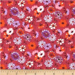 Kaufman London Calling Lawn Abstract Flower Pink