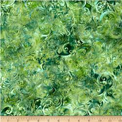 Bali Batiks Handpaints Swirls Cypress