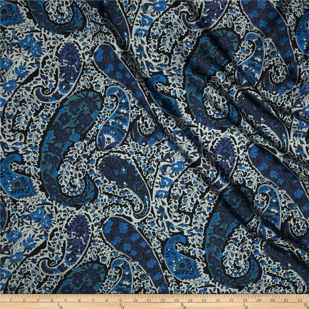 Liberty of London Silk Twill Bourton Place Blue