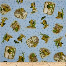 Frog and Toad Together Tossed Frog Blue