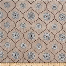 Jaclyn Smith Embroidered Quatrefoil Lagoon