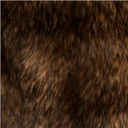 Faux Fur Mountain Coyote Brown