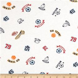 Scout Collection Go Team Cotton Jersey Knit White