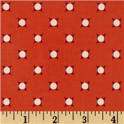 Riley Blake Vintage Verona Laminated Cotton Dots Coral