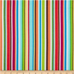 Mumbo Jumbo Flannel Tossed Stripes Bright/Multi