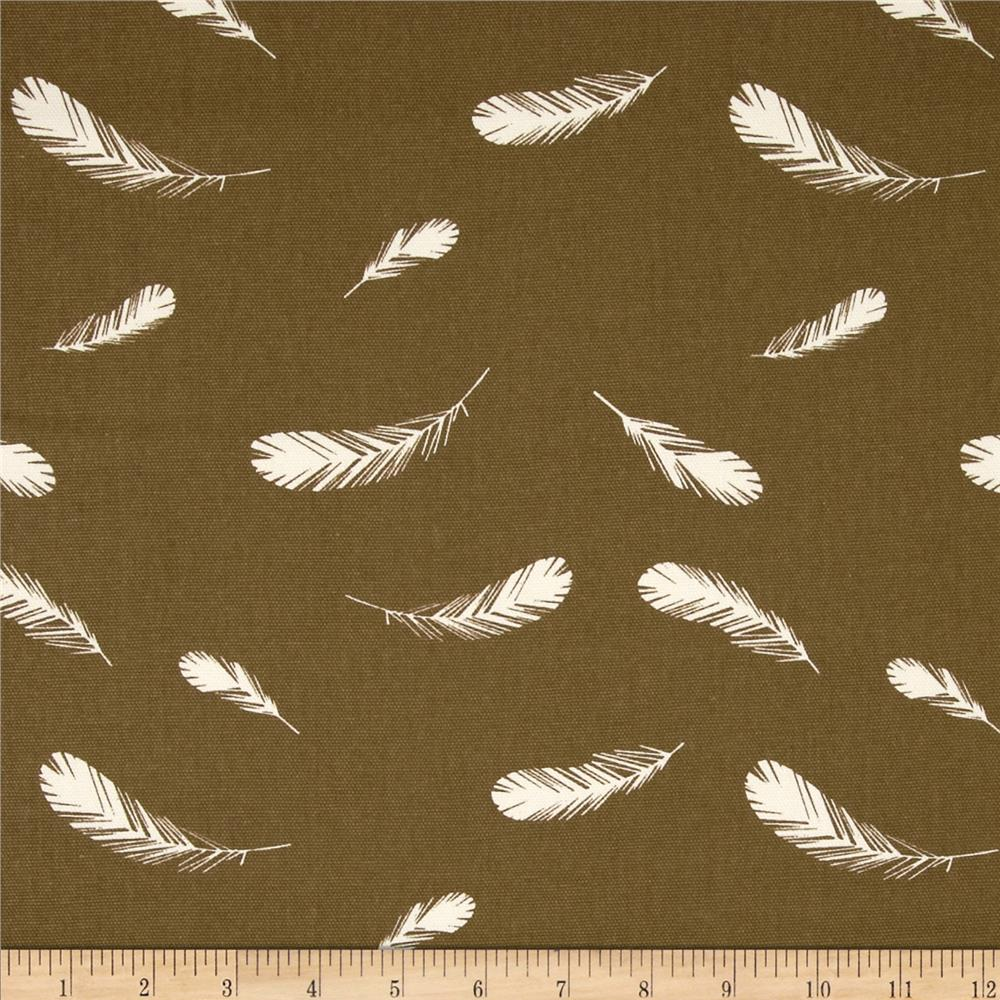 Birch Organic Charley Harper Nurture Canvas Feathers Brown