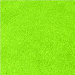Cuddle Suede Dark Lime Fabric