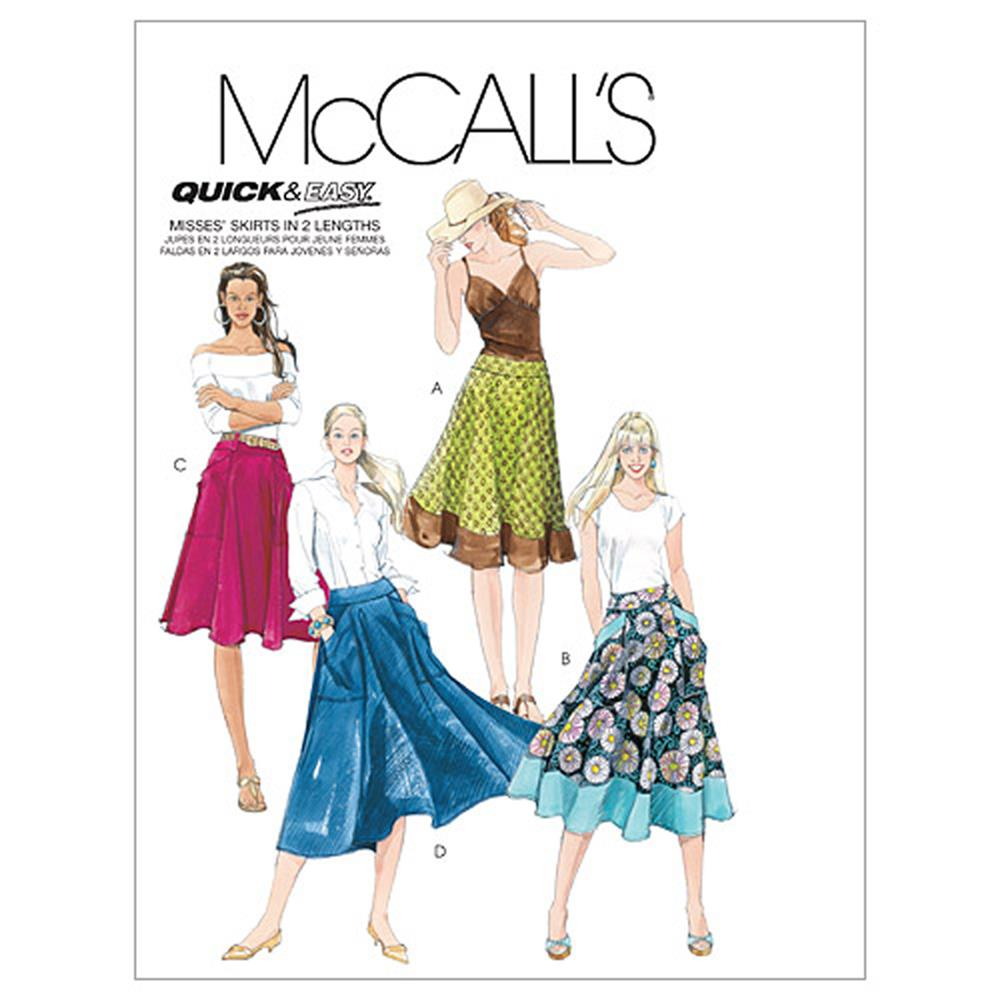 McCall's Misses' Skirts In 2 Lengths Pattern M5431