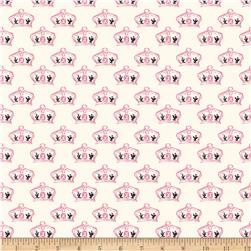 Riley Blake British Invasion Crown Pink