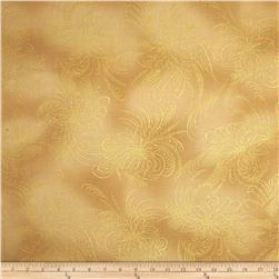 Berries and Blooms Metallic Poinsettia Outline Cream/Gold