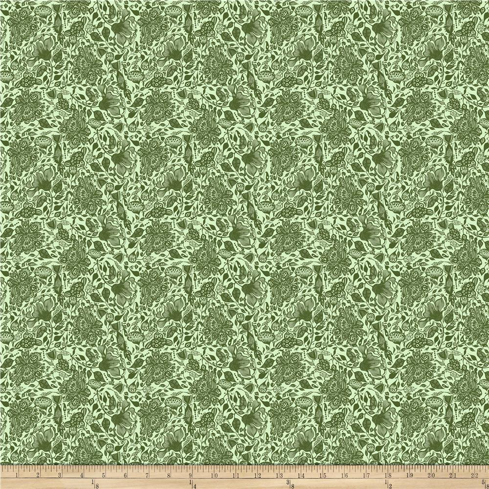 INOpets.com Anything for Pets Parents & Their Pets Garden Dreams Dream Green Fabric