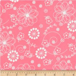 Kimberbell Little One Flannel Too! Doodles Pink