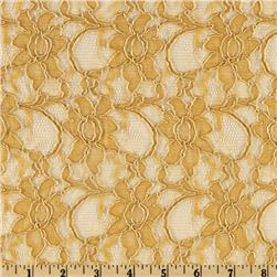 Xanna Floral Lace Fabric Gold
