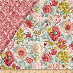 A Walk In The Park Double Sided Quilted Roses Aqua