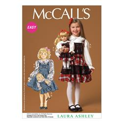 McCall's Children's/Girls'/Dolls' Top and Jumpers Pattern M7010 Size CDD