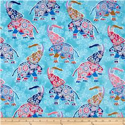 Bombay All Over Elephants Blue