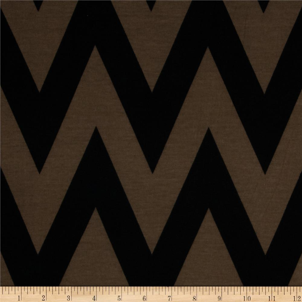 Fashionista Jersey Knit Medium Chevron Brown/Black