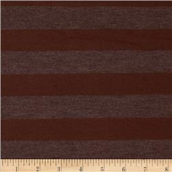 Yarn Dyed Jersey Knit Stripe Cinnamon/Brown