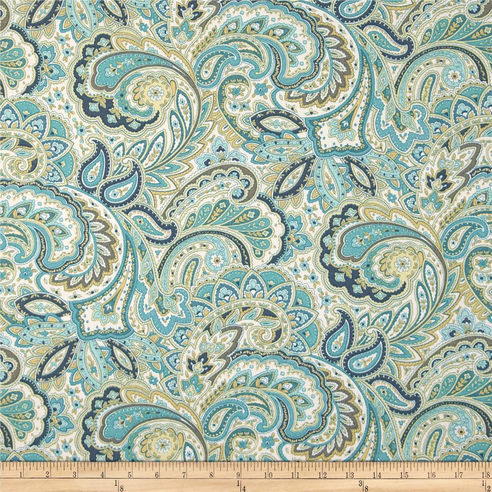 Swavelle mill creek indoor outdoor maxime aquarius for Outdoor fabric