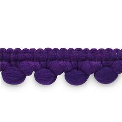 "3/8"" Baby Pom Fringe Trim Purple"