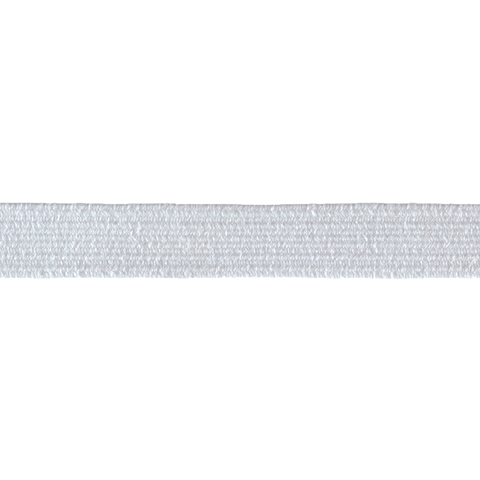 3/8'' Braided Elastic White
