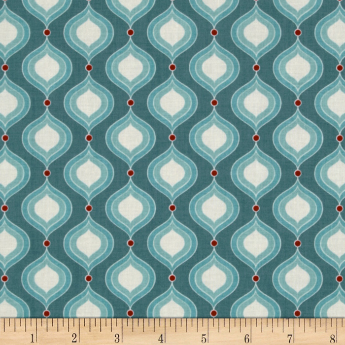 Riley Blake Flutter Petals Blue Fabric