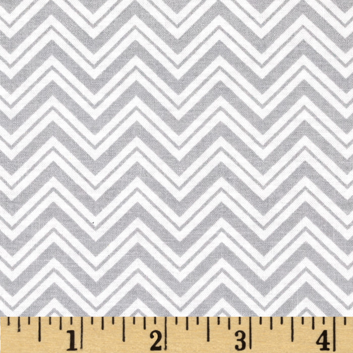 Child's Play Chevron Grey/White Fabric by Santee in USA