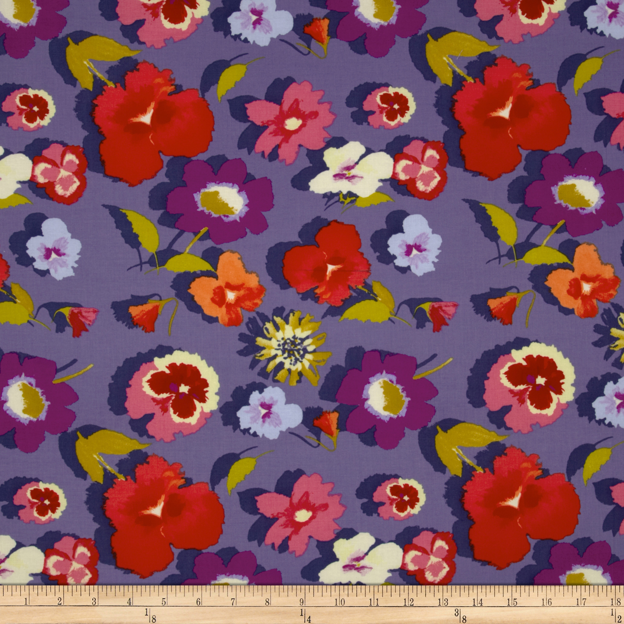Secret Garden Large Floral Denim Purple
