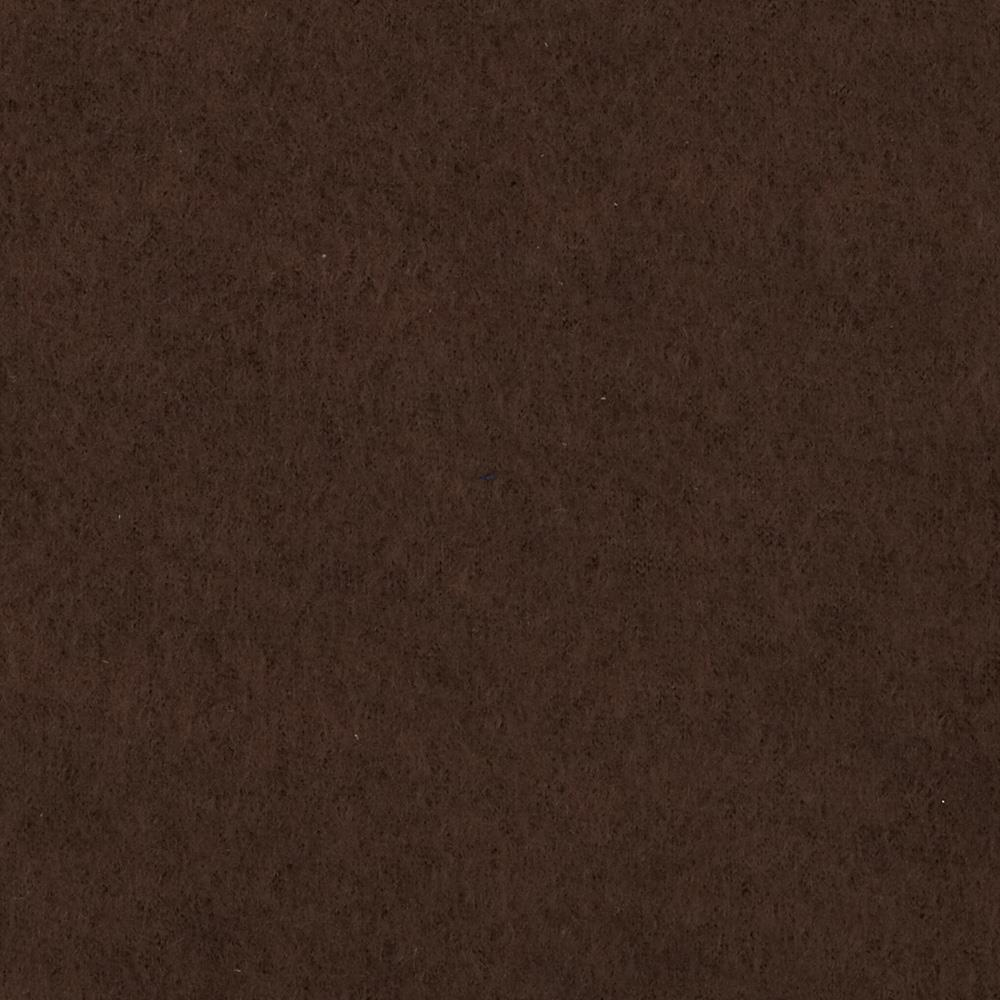 Warm Winter Fleece Solid Brown Fabric
