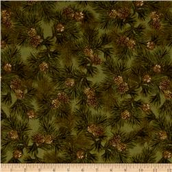 Kanvas Into the Woods Flannel Northern Pines Green