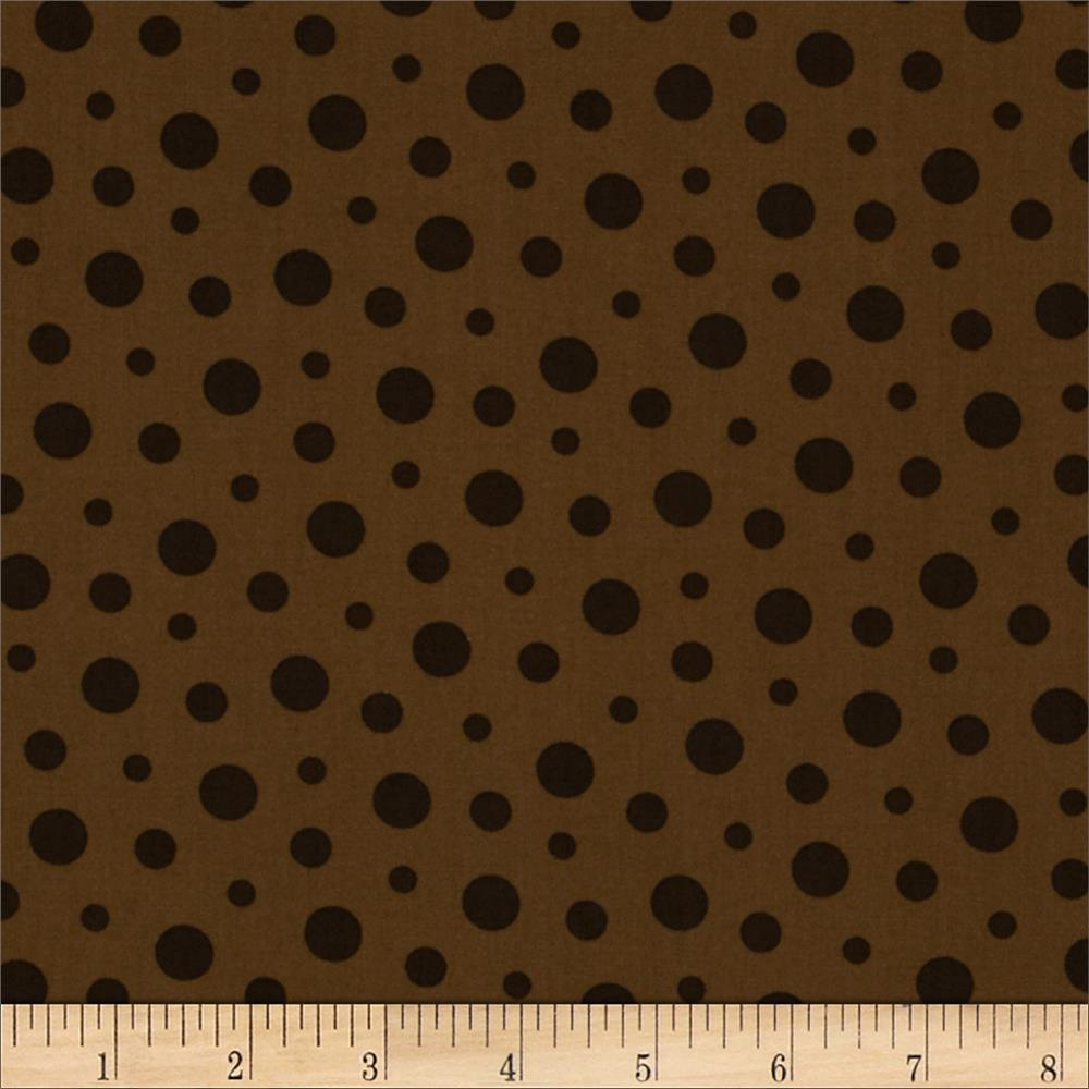 French Press Polka Dots Brown
